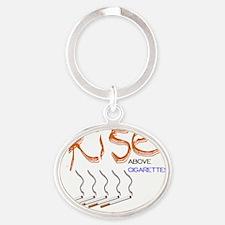 Rise Above Smoking2_WJC2011 Oval Keychain