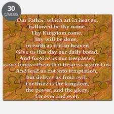Lords Prayer_red on white Puzzle