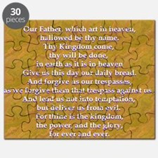 Lords Prayer_blue on white Puzzle