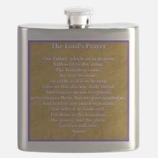 Lords Prayer_blue on white Flask