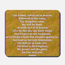 Lords Prayer_blue on white Mousepad