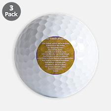 Lords Prayer_blue on white Golf Ball