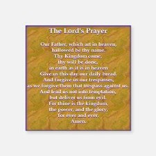"Lords Prayer_blue on white Square Sticker 3"" x 3"""