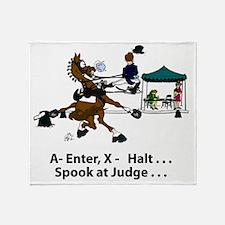 Dressage Horse Spook Throw Blanket