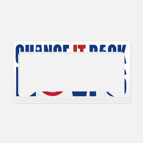 nov.6 License Plate Holder