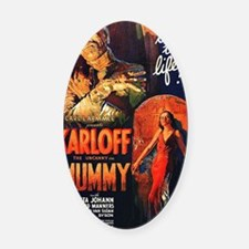 Mummy_1932 pd no copyright posted  Oval Car Magnet