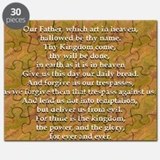 Lords Prayer_white on white Puzzle