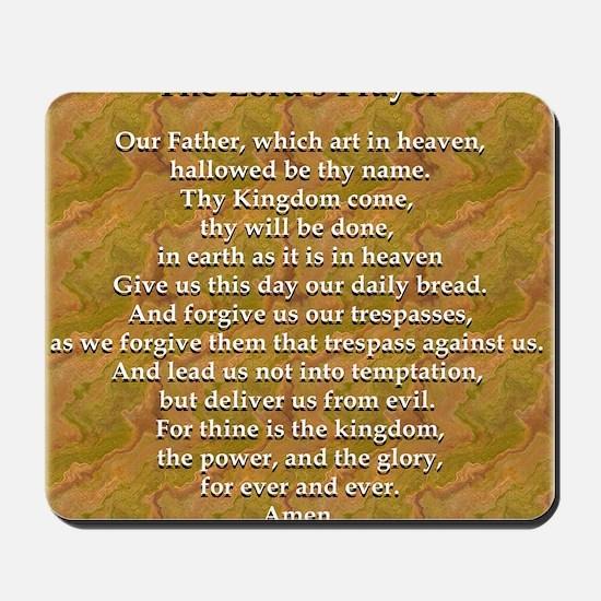 Lords Prayer_white on white Mousepad