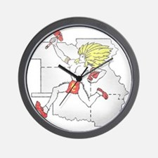 Throwback Chiefs Wall Clock