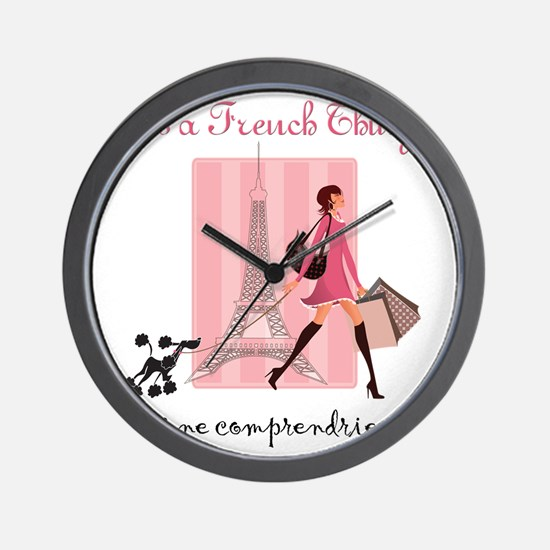 French Thing light Wall Clock