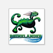 "Hodag Beach Balll Square Sticker 3"" x 3"""