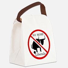 No More Liberals Canvas Lunch Bag
