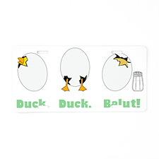 duckduckbalut3 Aluminum License Plate