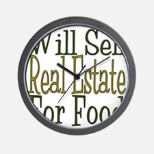 Will Sell Real Estate Wall Clock