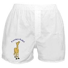 Ponies Rule Boxer Shorts