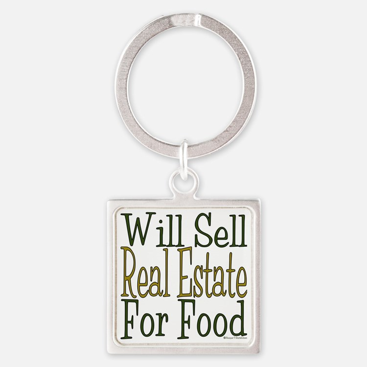 Will Sell Real Estate Square Keychain