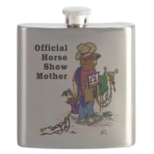 Horse Show Mom - western Flask