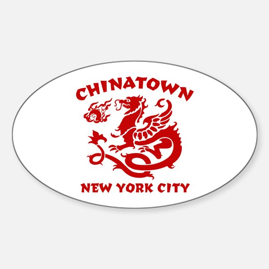 Chinatown New York City Oval Decal