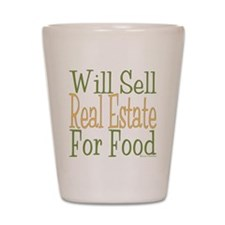 Will Sell Real Estate dark Shot Glass
