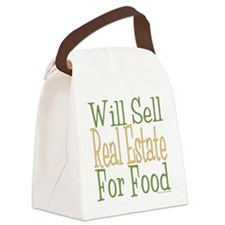 Will Sell Real Estate dark Canvas Lunch Bag