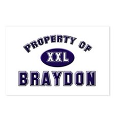 Property of braydon Postcards (Package of 8)