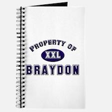 Property of braydon Journal