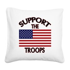 Support The Troops Square Canvas Pillow