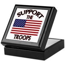 Support The Troops Keepsake Box