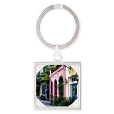 RainbowRow_Summer_Ornamenta Square Keychain