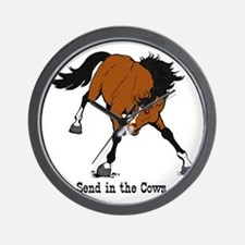 Send in the Cows Wall Clock