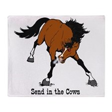 Send in the Cows Throw Blanket
