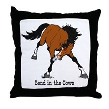 Send in the Cows Throw Pillow