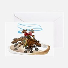 Reining Horse Spin Greeting Card