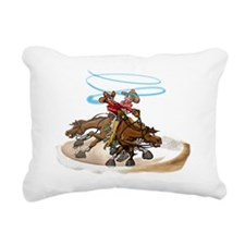 Reining Horse Spin Rectangular Canvas Pillow