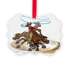 Reining Horse Spin Ornament