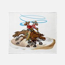 Reining Horse Spin Throw Blanket
