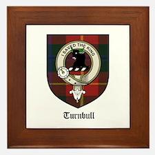 Turnbull Clan Crest Tartan Framed Tile