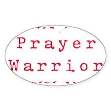 PrayerWarriorred Decal