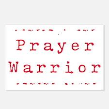 PrayerWarriorred Postcards (Package of 8)