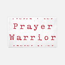 PrayerWarriorred 3'x5' Area Rug