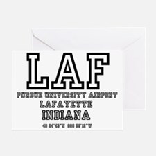 AIRPORT CODES - LAF - LAFAYETTE, IND Greeting Card