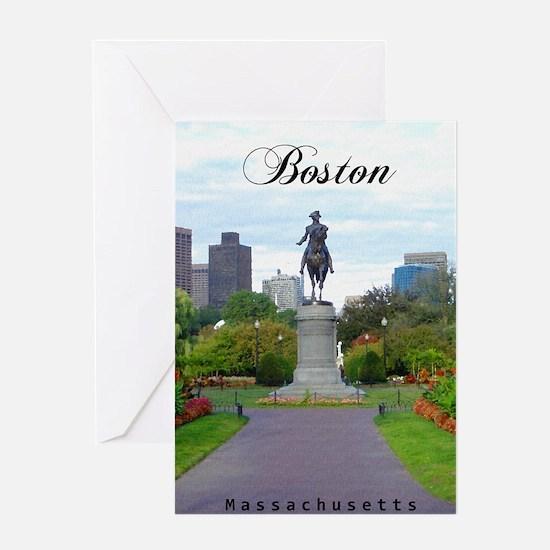 Boston_5.5x8.5_Journal_BostonPublicG Greeting Card