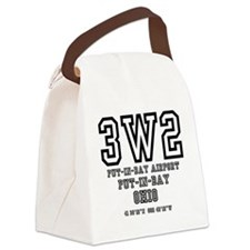 AIRPORT CODES - 3W2 - PUT IN BAY, Canvas Lunch Bag