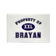 Property of brayan Rectangle Magnet