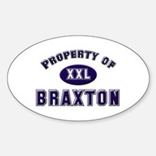 Property of braxton Oval Decal