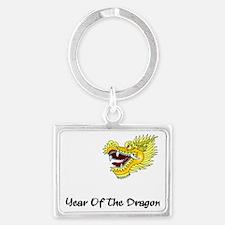 dragon60red Landscape Keychain