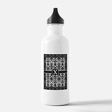 monogram_frame_X Water Bottle