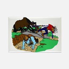 Horse and Troll Rectangle Magnet