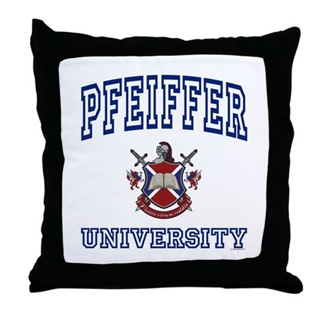 PFEIFFER University Throw Pillow