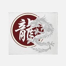 dragon51black Throw Blanket